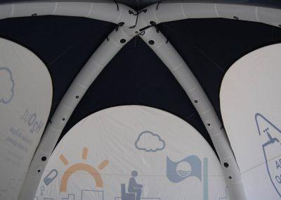 Águas do Porto - Interior da tenda