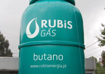Garrafa de gás aço Rubis 8m altura