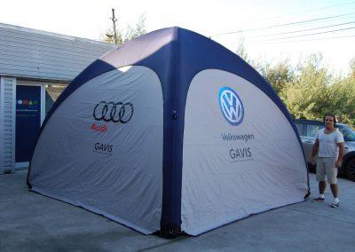 Gavis - Event Tent 4000 com impressão nas laterais
