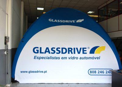 Glassdrive - Event Tent 5000 com impressão na cobertura e impressão nas laterais