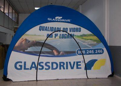 Glassdrive - Event Tent 5000 com impressão na cobertura e laterais