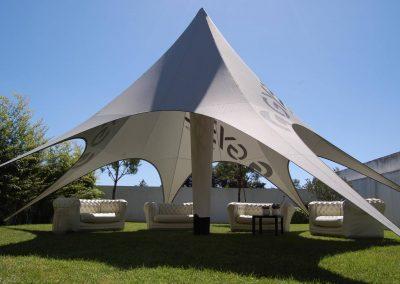 Gybe - Star Lounge 11 com coluna central com iluminação