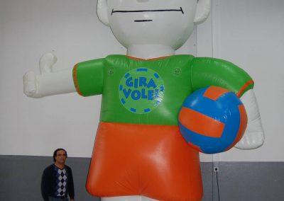Mascote Gira Volei