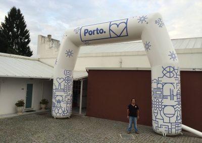 Pórtico Municipio do Porto com 6m altura