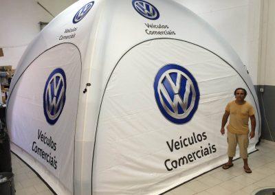 Volkswagen - Event Tent 5000 com impressão na cobertura e laterais