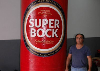 lata Super Bock sleek